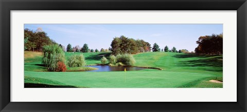 Framed Pond at a golf course, Baltimore Country Club, Baltimore, Maryland, USA Print
