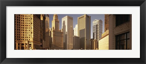 Framed Close up of Skyscrapers in Chicago Print