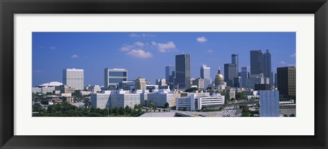Framed View of skyscrapers in Atlanta on a sunny day, Georgia, USA Print