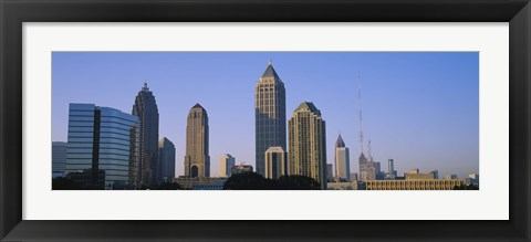 Framed Atlanta skyline, Georgia Print