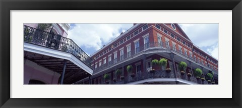 Framed Wrought Iron Balcony New Orleans LA USA Print