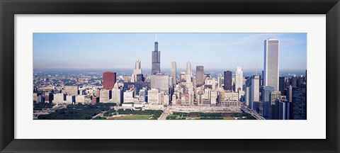 Framed Chicago Skyline from a Distance Print