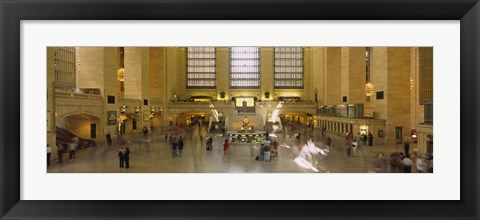 Framed Group of people in a subway station, Grand Central Station, Manhattan, New York City, New York State, USA Print