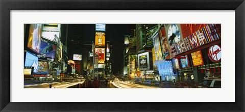 Framed Neon boards in a city lit up at night, Times Square, New York City, New York State, USA Print