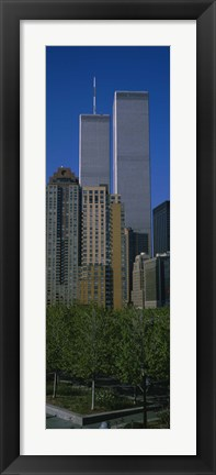 Framed Buildings in a city, World Trade Center, New York City, New York State, USA Print
