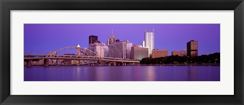 Framed Allegheny River Pittsburgh PA Print