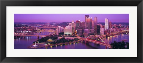 Framed Dusk, Pittsburgh, Pennsylvania, USA Print