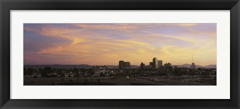Framed Sunset Skyline Phoenix AZ USA Print