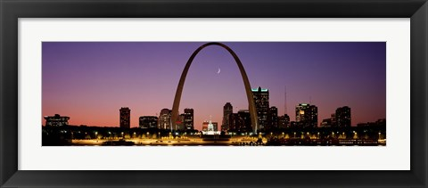 Framed Night view of St Louis MO Print