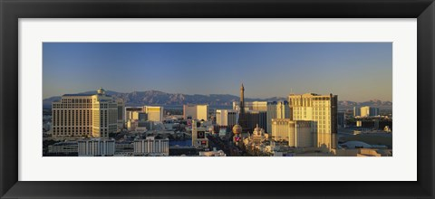 Framed High Angle View Of Buildings In Las Vegas, Nevada Print