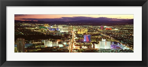 Framed Strip, Las Vegas Nevada, USA Print