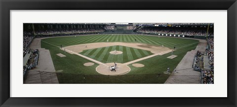 Framed Baseball match in progress, U.S. Cellular Field, Chicago, Cook County, Illinois, USA Print