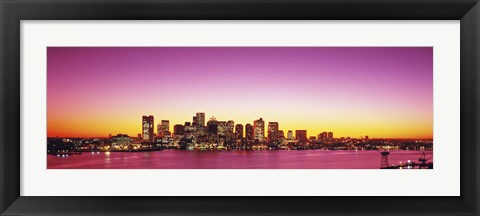 Framed Sunset, Boston, Massachusetts, USA Print