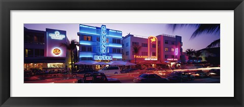 Framed Ocean Drive South Beach Miami FL USA Print