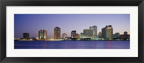 Framed Night New Orleans LA Print
