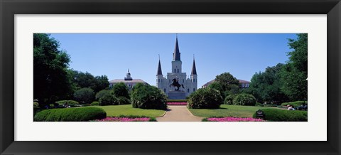 Framed St Louis Cathedral Jackson Square New Orleans LA USA Print