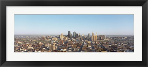 Framed Aerial view of a cityscape, Kansas City, Missouri, USA Print