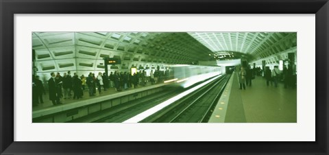 Framed Metro Station Washington DC USA Print