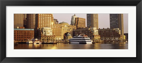 Framed Buildings at the waterfront, Boston, Massachusetts Print