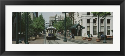 Framed Main Street Trolley Court Square Memphis TN Print