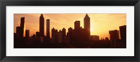 Framed Sunset Skyline, Atlanta, Georgia, USA Print