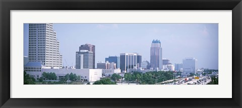 Framed Skyline & Interstate 4 Orlando FL USA Print