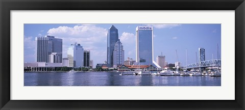 Framed Skyscrapers at the waterfront, Main Street Bridge, St. John's River, Jacksonville, Florida, USA Print