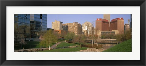 Framed Downtown Omaha NE Print