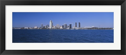 Framed Skyscrapers in a city, San Diego, California Print