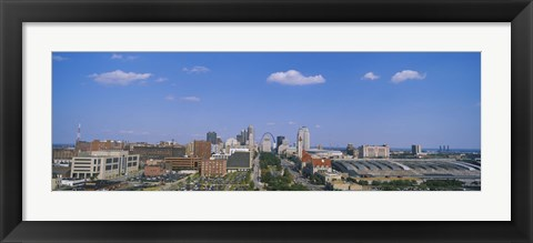 Framed Aerial view of a city, St. Louis, Missouri, USA Print