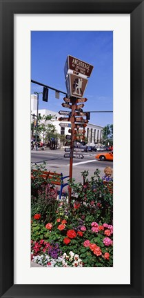 Framed Street Name signs at the roadside, Anchorage, Alaska, USA Print