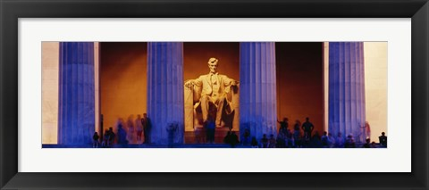 Framed Lincoln Memorial, Washington DC, District Of Columbia, USA Print