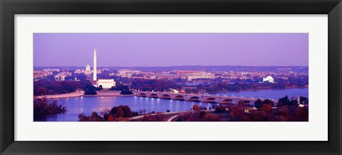 Framed Washington DC from the Water Print