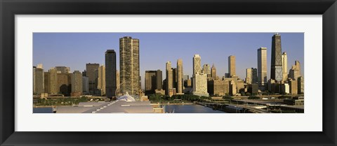 Framed Chicago skyscrapers on a sunny day, IL Print
