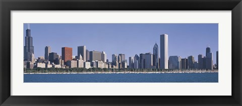 Framed Chicago skyline from the lake, IL Print