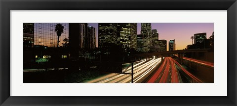 Framed Harbor Freeway Los Angeles CA Print