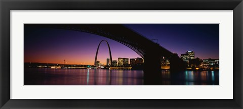 Framed Bridge in St. Louis MO Print