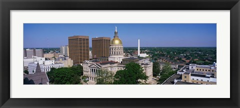 Framed Atlanta skyline during the day, GA Print