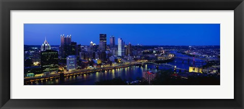 Framed Pittsburgh from Mount Washington Print