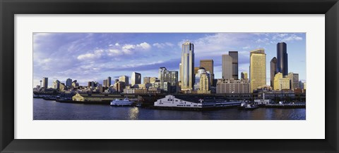 Framed City at the waterfront, Seattle, Washington State, USA Print