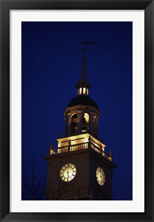Framed Independence Hall Tower Philadelphia PA Print