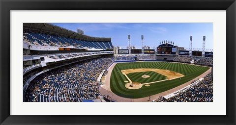 Framed High angle view of a baseball stadium, U.S. Cellular Field, Chicago, Cook County, Illinois, USA Print
