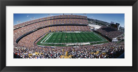 Framed Sold Out Crowd at Mile High Stadium Print