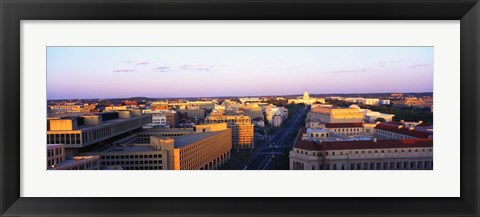 Framed Pennsylvania Ave Washington DC Print