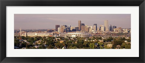 Framed Daytime Photo of the Denver Colorado Skyline Print