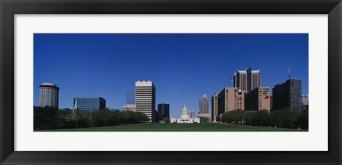 Framed Buildings in a city, St Louis, Missouri Print