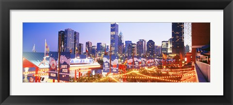 Framed Navy Pier Chicago IL Print