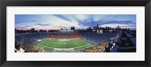 Framed Soldier Field Football, Chicago, Illinois, USA Print