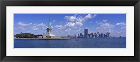 Framed Statue of Liberty and Twin Towers Print