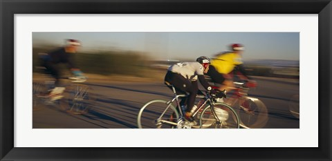 Framed Bicycle race, Tucson, Pima County, Arizona, USA Print